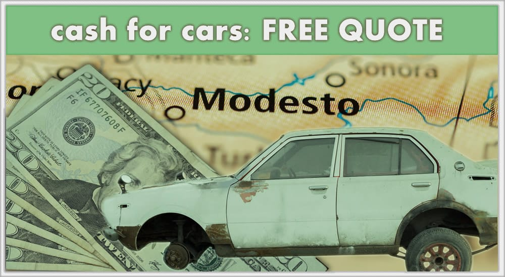 Junk Car and cash with request a quote call to action