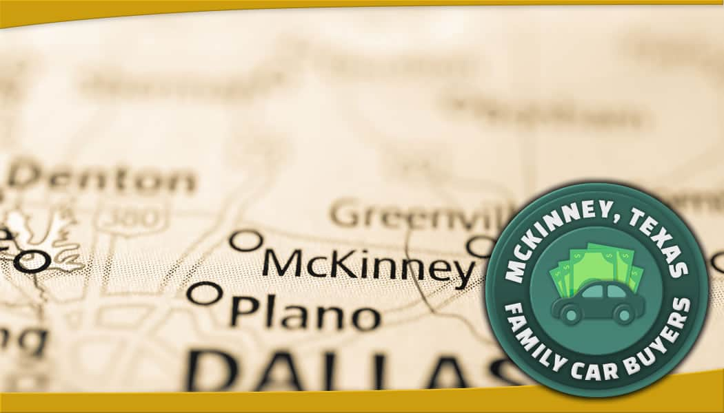 Map of Mckinney, Texas and FCB green emblem