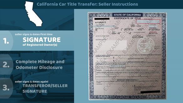 California Vehicle Title Transfer Instructions
