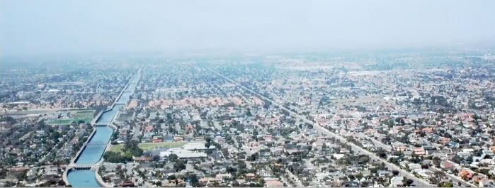 Orange County Aerial Shot of Neighborhood